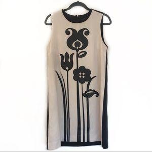 [VICTORIA BECKHAM] Floral Sleeveless Midi Dress M